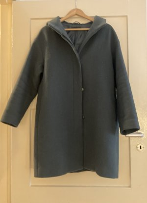 Uniqlo Duffle-coat bleu pétrole