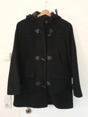 Dufflecoat Wolle schwarz Größe 38