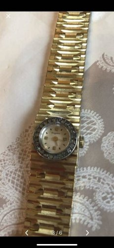 Dugena Horloge met metalen riempje goud
