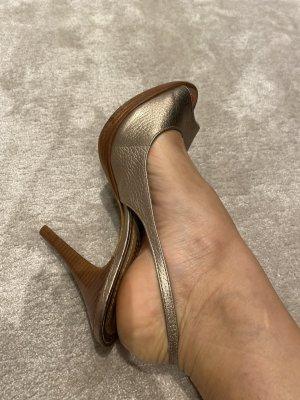 Dumond Platform Sandals gold-colored-light brown