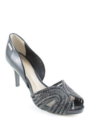 Dumond High Heels schwarz-goldfarben Business-Look