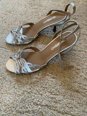 Dumond Sandalette silber, ungetragen, Größe 37