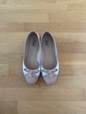 DUNE LONDON Ballerines pliables vieux rose-blanc