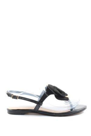 Dune Sandalias Dianette negro-crema look casual