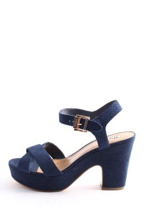 DUNE LONDON High Heel Sandaletten blau Casual-Look
