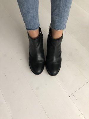 Dune London Leder Stiefeletten Boots Größe 38 schwarz