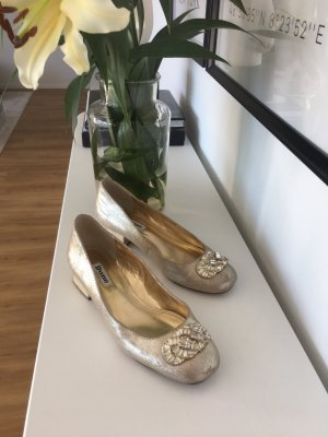 Dune Mary Jane ballerina's goud