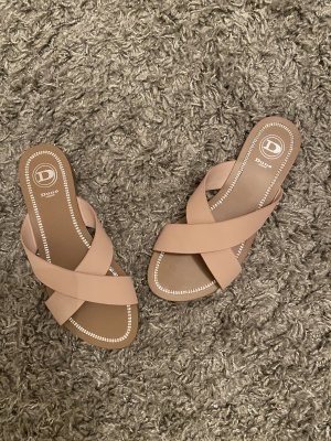 Dune London Sandalen Pantoletten 38 nude Neu
