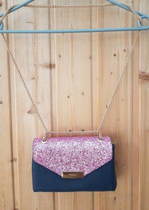 Dune London Umhängetasche glitzer blau pink kleine Handtasch party clutch Pailletten