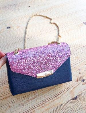 Dune London Umhängetasche kleine Handtasche party clutch Pailletten pink glitzer