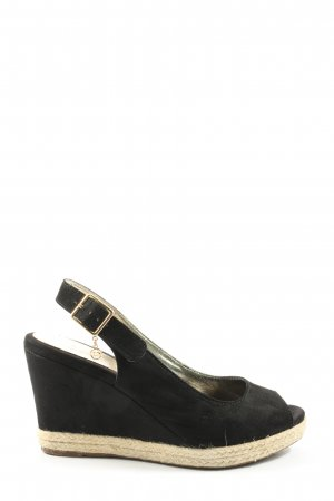 Dune Peeptoe Pumps schwarz Casual-Look