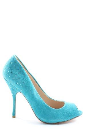 Dune Peeptoe Pumps blau Elegant