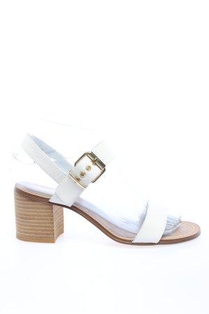 Dune Riemchen-Sandaletten weiß Casual-Look