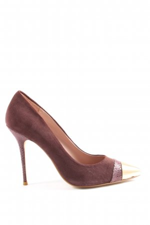 Dune Spitz-Pumps braun Casual-Look