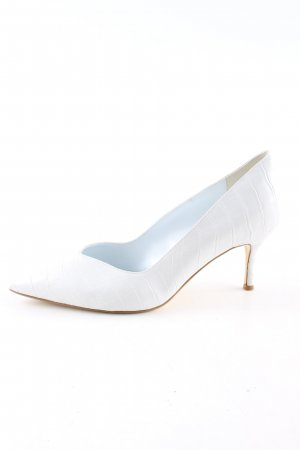 Dune Spitz-Pumps weiß Animalmuster Casual-Look