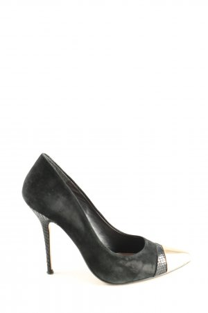 Dune Spitz-Pumps schwarz-goldfarben Business-Look