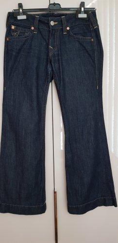 True Religion Jeans a zampa d'elefante blu scuro