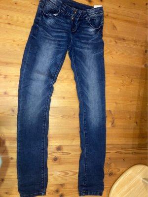 Dunkel blaue High Waist Jeans