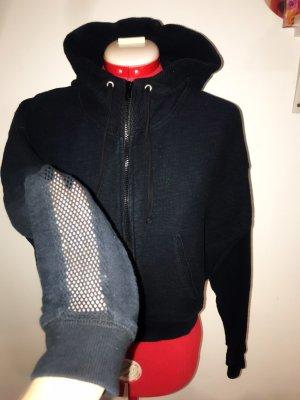 Zara Chaleco con capucha azul oscuro-azul