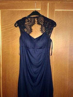 Dunkel Blauer Ball Kleid (mit Spitzen)
