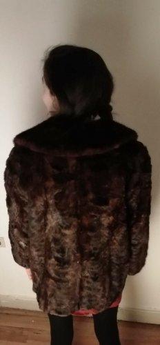 Pelt Coat dark brown-black brown pelt