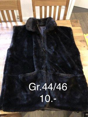 Fake Fur Vest dark brown
