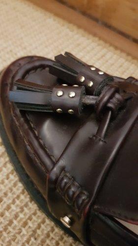 Zara Trafaluc Zapatos formales sin cordones rojo zarzamora