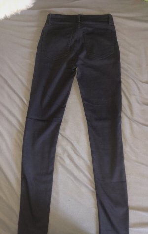 H&M Hoge taille jeans antraciet