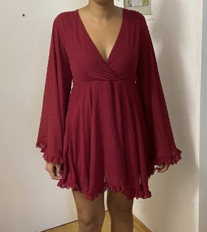 Boohoo Mini Dress carmine