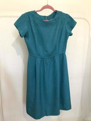 Dunkel Türkis Blau Vintage Kleid