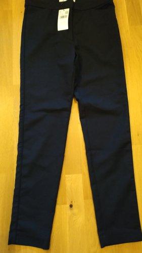 Mango 7/8 Length Trousers dark blue