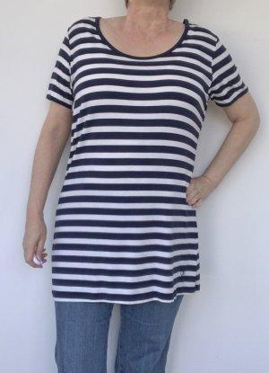 Bogner Jeans Long Shirt dark blue-white modal fibre