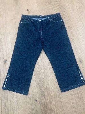 Miss H. Short en jean bleu foncé-argenté coton