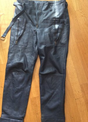 Leather Trousers blue leather