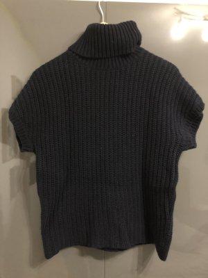 Ralph Lauren Sweter bez rękawów z cienkiej dzianiny ciemnoniebieski
