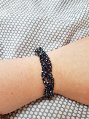dunkelblau/schwarzes Armband