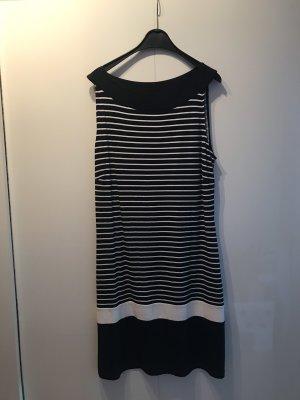 Dunkelblau-weiß gestreiftes Kleid