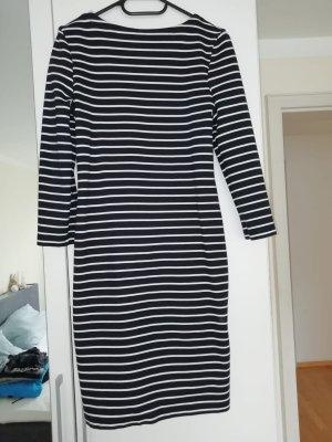 Opus Vestido de tela de sudadera blanco-azul oscuro