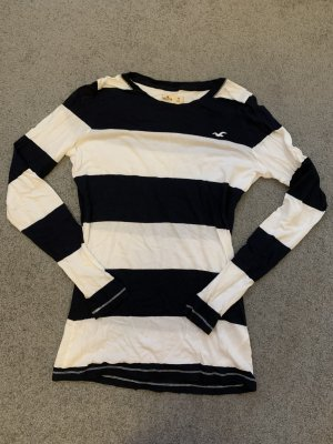 Dunkelblau/weiß gestreiftes Sweatshirt