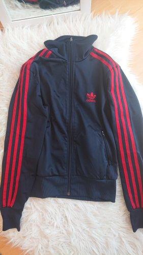 dunkelblaue Adidasweste