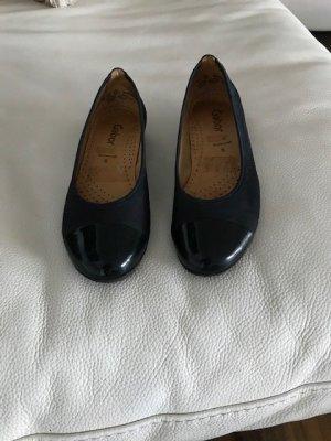 dunkelblaue, blaue Pums, Ballerina Schuhe von Gabor Gr. 5. 38/39, Slipper