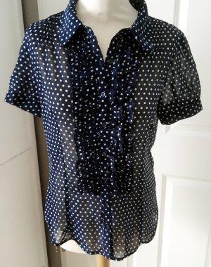Orsay Short Sleeved Blouse dark blue-white