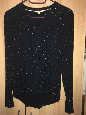 Dunkelblaue Bluse mit Herzchen ~ Gr. 36