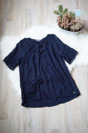 Cecil Short Sleeved Blouse blue-dark blue