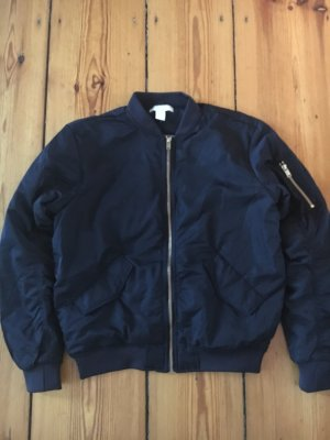 H&M Flight Jacket blue-dark blue
