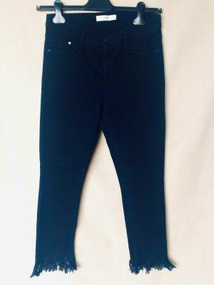 Brax feel Good 7/8 Length Trousers blue cotton