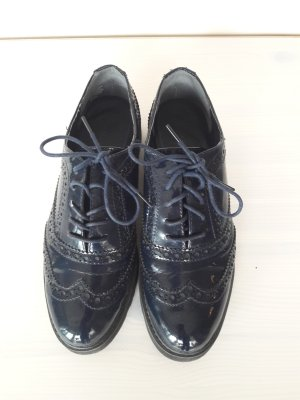 Marco Tozzi Wingtip Shoes dark blue