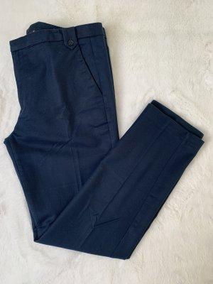 Dunkelblaue Bundfaltenhose / Stoff-Hose von Zara Gr. 40