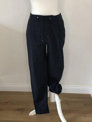 Massimo Dutti Woolen Trousers dark blue-cornflower blue wool