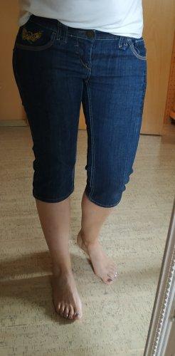 Dunkelblaue Capri-Jeans von Mogul, Gr. 28